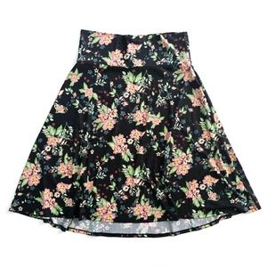 LulaRoe Floral Spring Flower Skirt Size XL